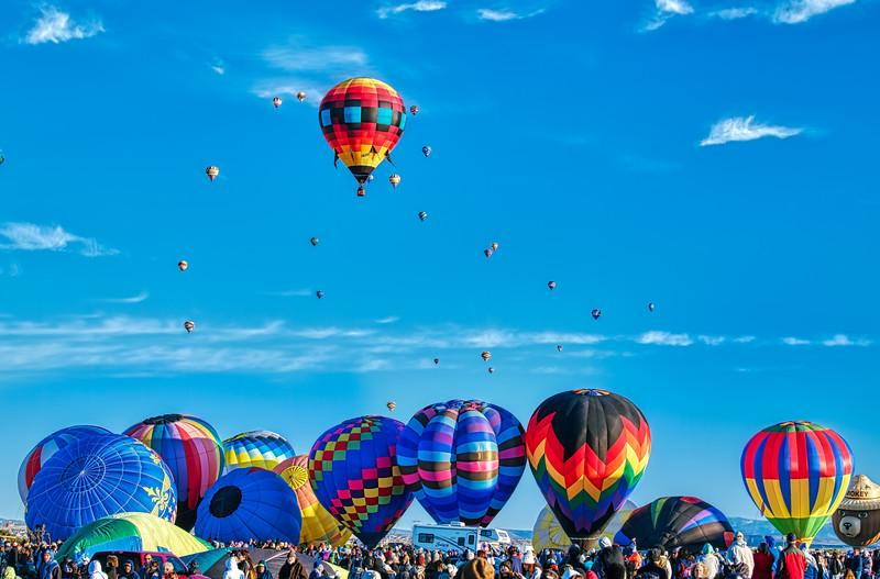 Rush Hour at the Balloon Fiesta - John O'Neill Photography