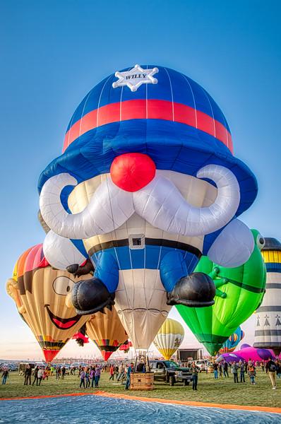 Willy the Cop Balloon - John O'Neill Photography