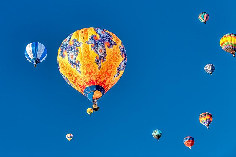 Orange Balloon and Friends - John O'Neill Photography