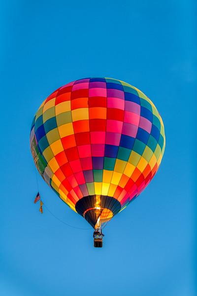 Nature Valley Balloon Firing Up - John O'Neill Photography