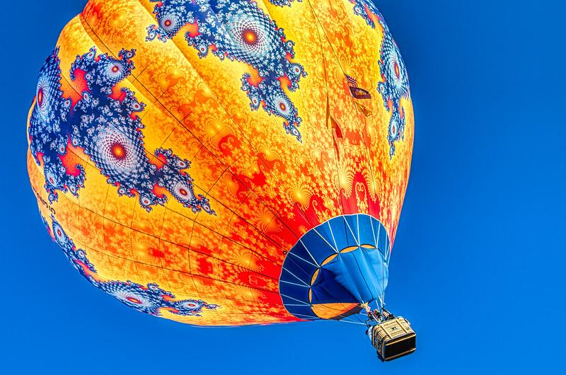 Orange Paisley Balloon Partial Tilt - John O'Neill Photography