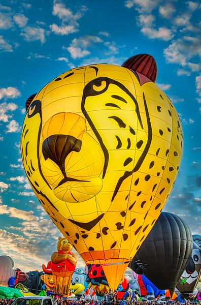 Leopard Balloon Three-Quarter View - John O'Neill Photography
