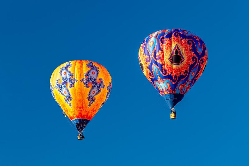 Two Patterned Balloons V3 - John O'Neill Photography