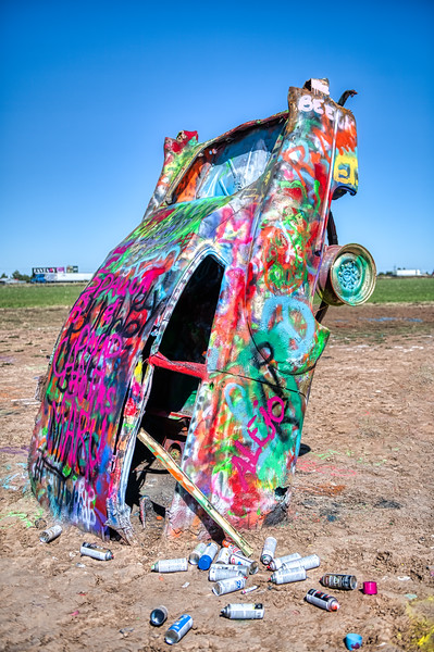 Car & Cans of Paint - John O'Neill Photography