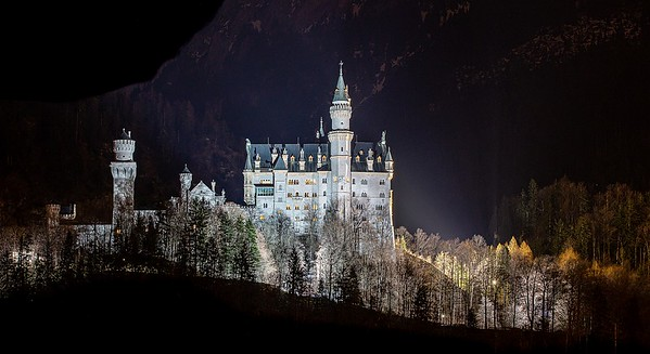 Castle Neuschwanstein at Night
