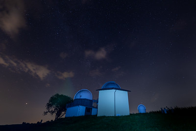 Observatory in bright light