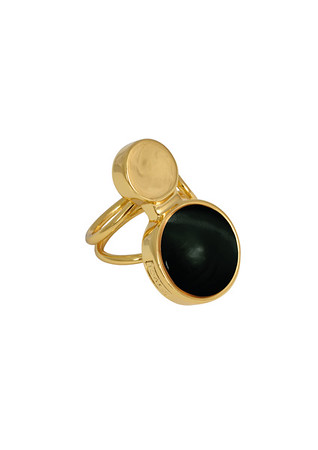 MOON RING ONYX BLACK