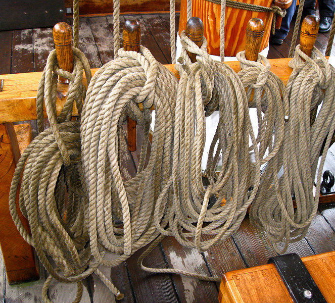 Ropes put neatly away