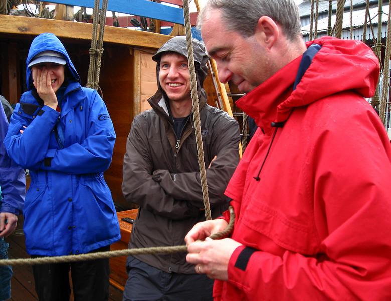 John demonstrates one-handed knot-work