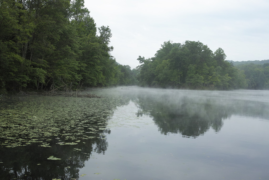 May 17 2014   Bay's Mountain Lake with fog