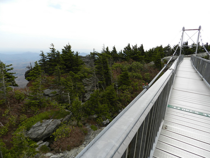 April 14 2011  Mile High Swinging Bridge at Grandfather Mountain
