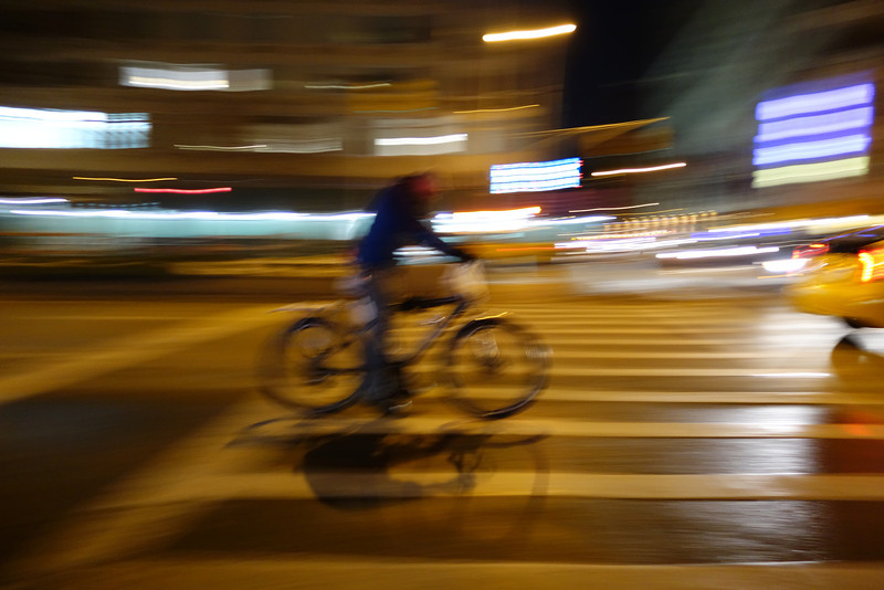 December 16 2013   Night bicyclist