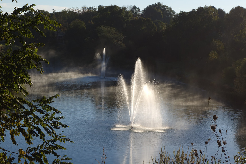 October 9 2013   Morning fountains