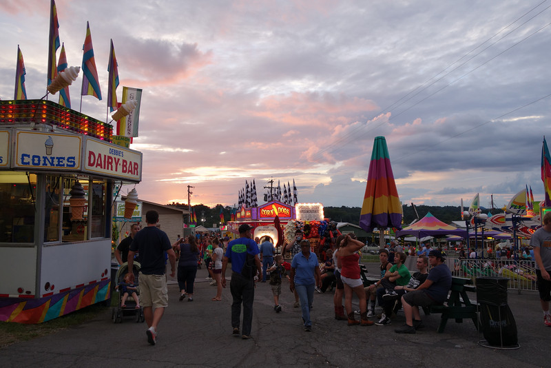 August 20 2013   Appalachian Fair Sunset