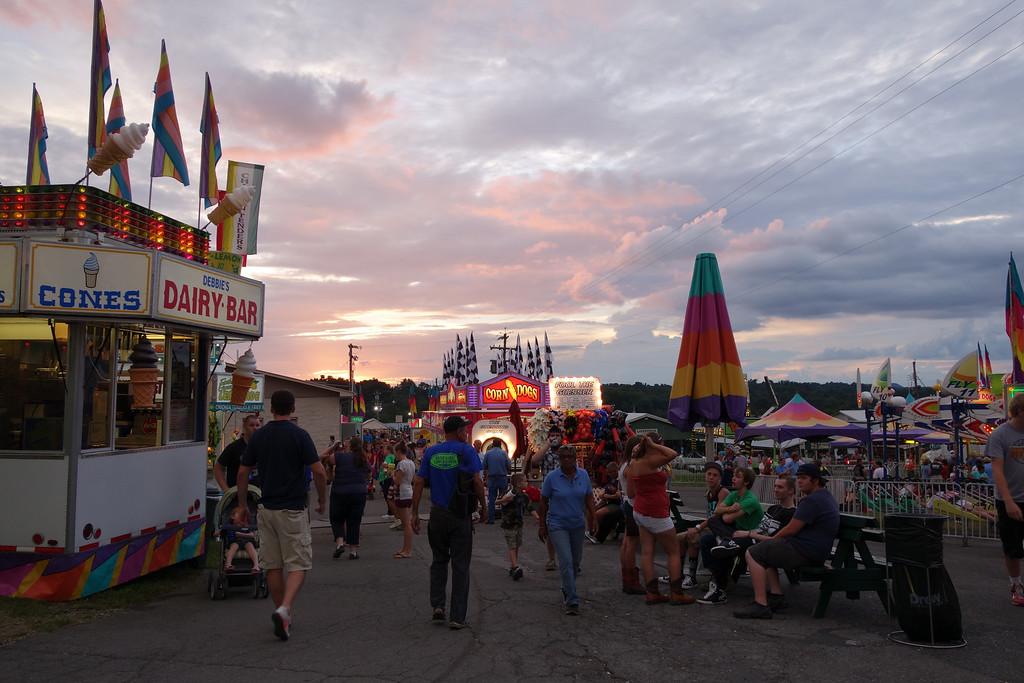 August 20 2013   Appalachian Fair Sunset