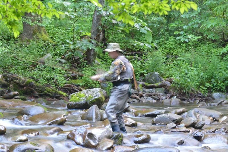 June 11 2014  Smokies fisherman