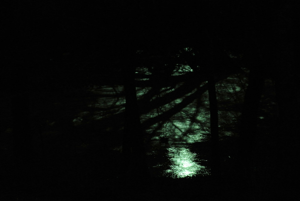 January 15 2013   Flooded Creek by Night
