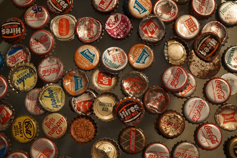January 3 2015  My childhood bottle cap collection