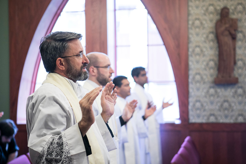 On Wednesday, Sept. 12, 2018, Fr. Peduru Fonseka, OSB, celebrated Mass with the participants in the Institute for Priests and Presbyterates Newly Appointed Pastor workshop.