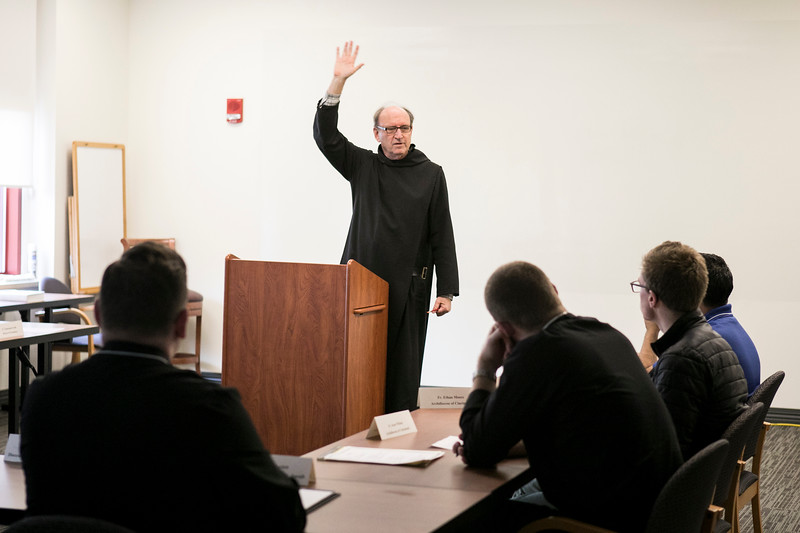 On Wednesday, Nov. 7, Fr. Harry Hagan, OSB, gave a presentation on Lectio Divina to participants in the IPP Newly Appointed Pastor program.