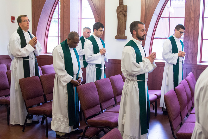 Photos from the IPP Newly Appointed Pastor Workshop held on September 11-14, 2017. This workshop focused on the three munera of priestly ministry. Presenters include Fr. Dustin Boehm (priest of the Archdiocese of Indianapolis), Fr. Peter Marshall (Director of IPP and a priest of the Archdiocese of Indianapolis), Msgr. WIlliam Stumpf (Vicar General of the Archdiocese of Indianapolis), and Fr Denis Robinson, OSB (Saint Meinrad Archabbey).