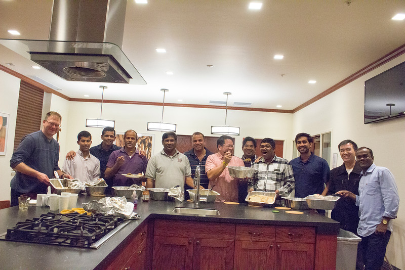 George Jose cooked dinner during the IPP World Priest Program