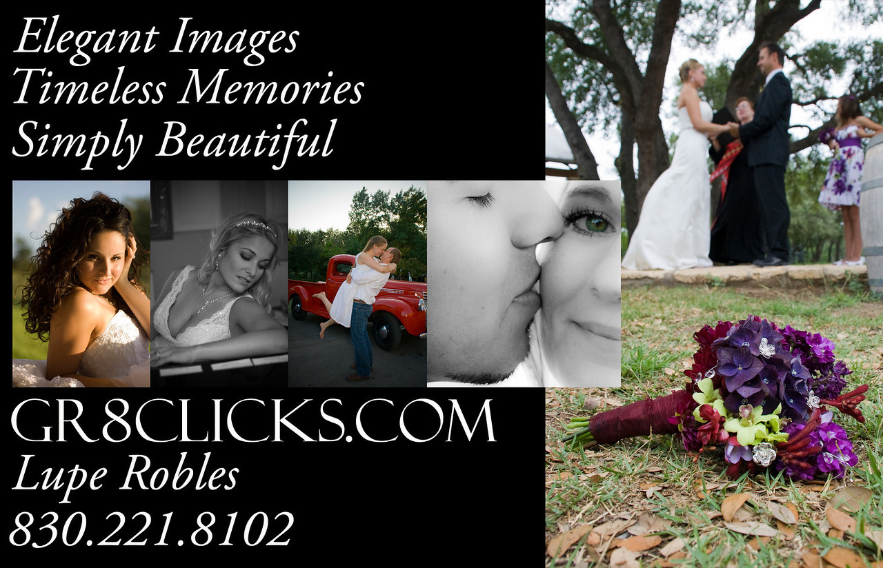 Lupe Robles 830-221-8102 lupe@gr8clicks.com