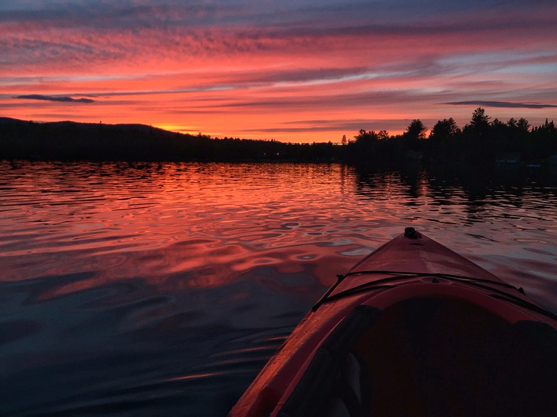 sunset paddle on Piper Pond
