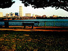 Boston viewed from Memorial Dr.<br /> iPhone 3G, edited with Photogene, Photo filters: Lomography