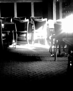 Waiting to be seated (B&W)