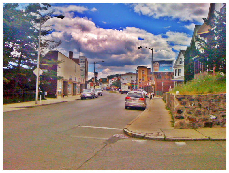 Cartoon Town<br /> 7/3/2010<br /> Crazy HDR filter applied to iPhone 3G image