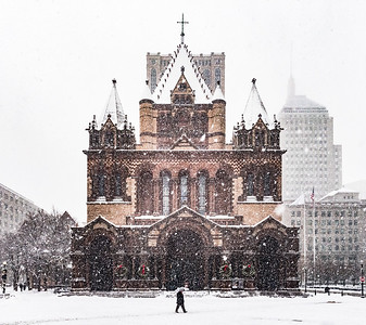 Copley Square Snow Day
