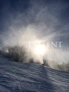 iPhone5s, snowmaking, tussey mountain, snow, sun, sunset