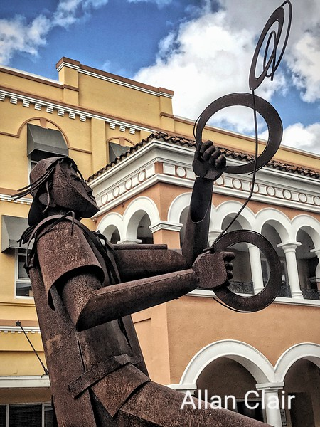 Iron Art Edgardo Carmona, Downtown, Fort Myers, Florida