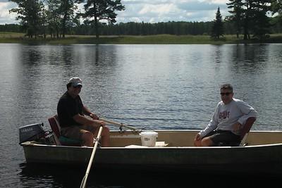 Rick and Spider on Dog Lake...