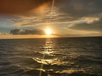 Sun down at Sea on the way to Cuba !