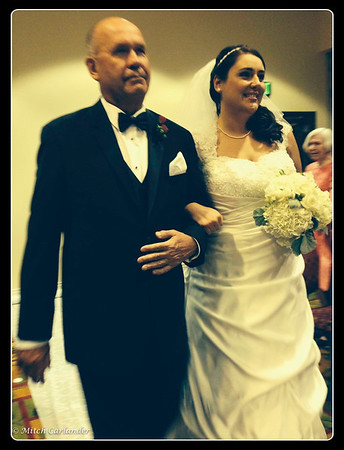 Proud Father moment walking my lovely daughter Brittany down the aisle !