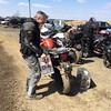 T removing bags for Motocross