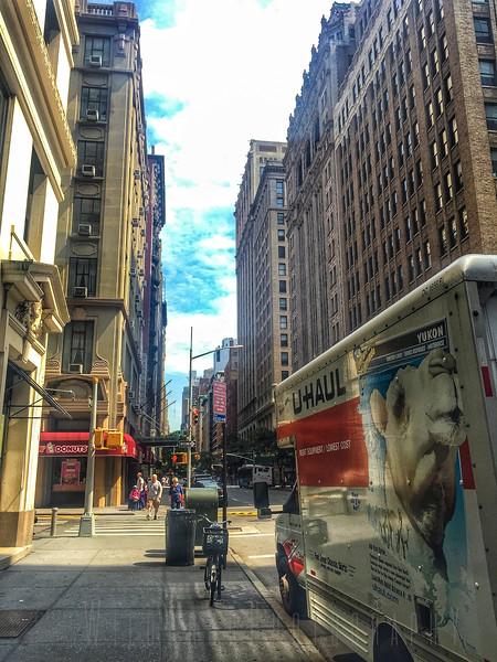 Moving out, Madison Av, New York city