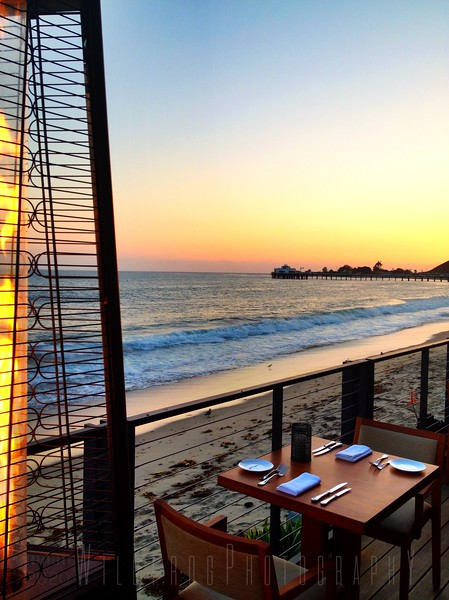 Dinner and Sunset in Malibu