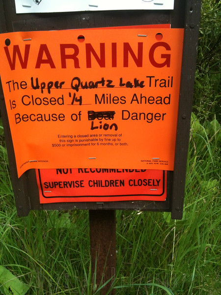 Warning Sign - Glacier National Park - Montana