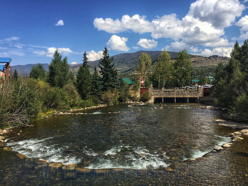 River in down town Silverthorne