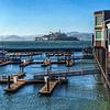 Pier 39 and Alcatraz Island