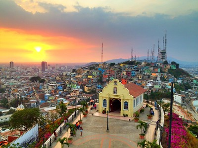 Christmas Eve sunset Guayaquil