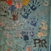 Kids hand prints on wall - Mexico