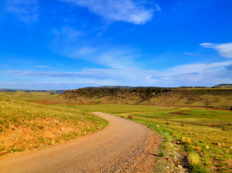 The Road going into the Ranch - Near Carson National Forest, New Mexico