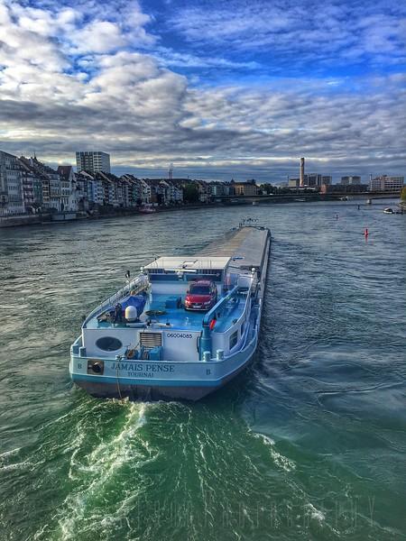 Rhein river at Basel