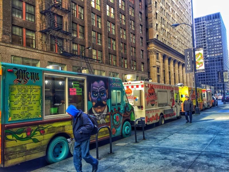 Taco trucks , Chicago