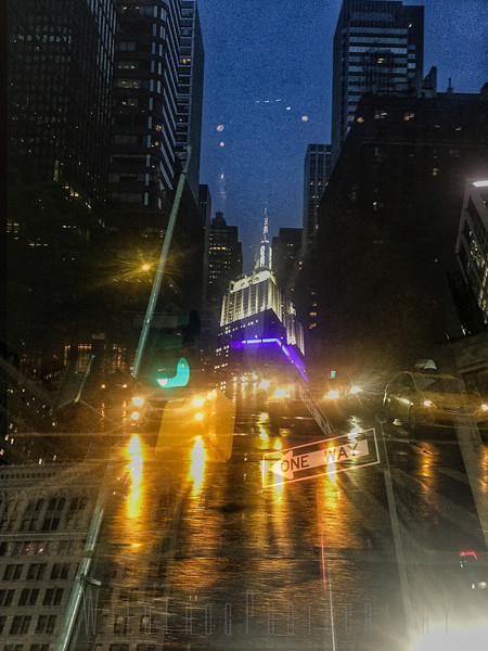 New York at Night, Empire State Building and traffic
