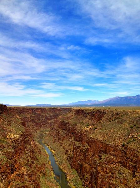 Looking north Rio Grande, Near Taos,New Mexico